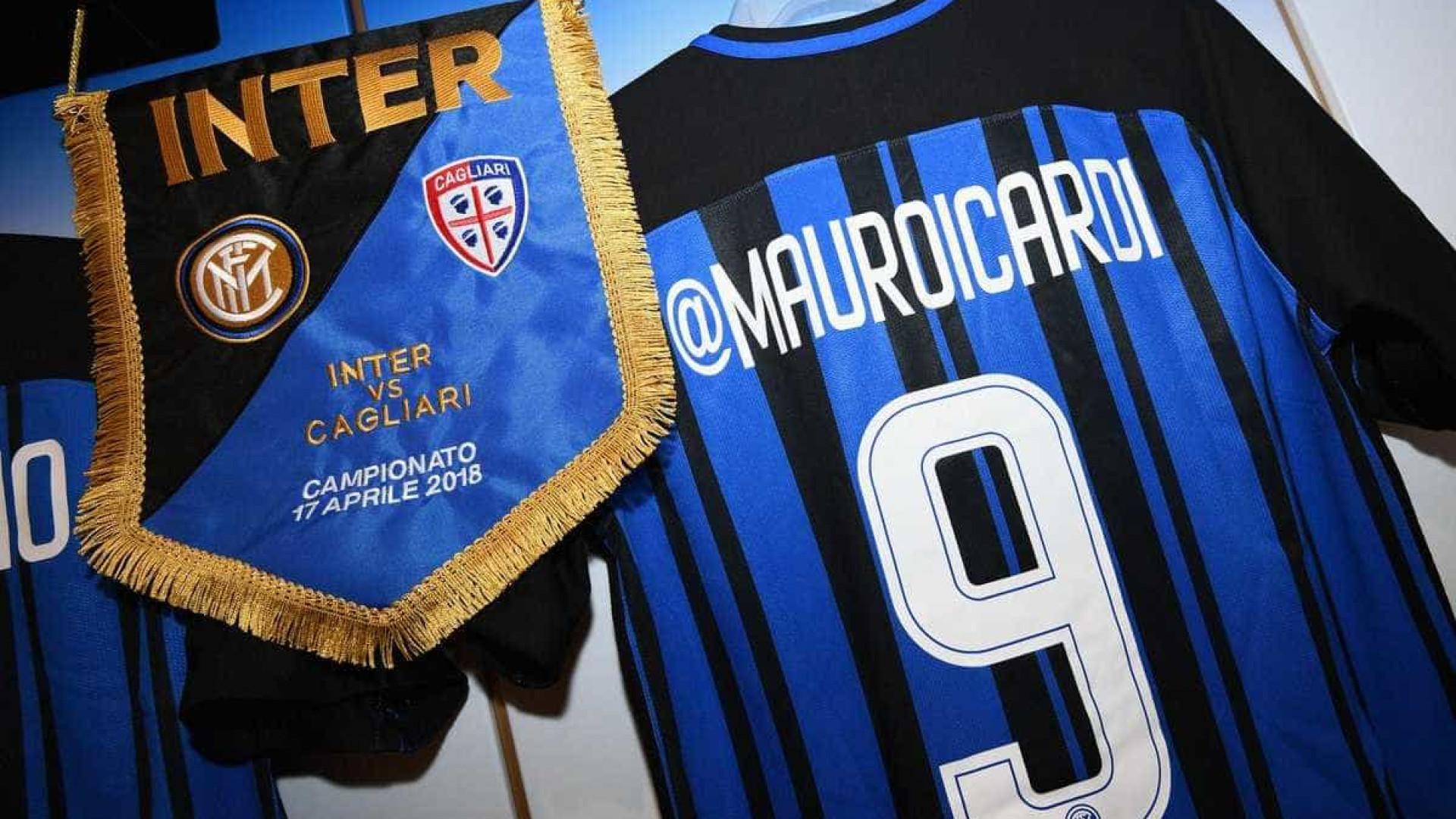 Inter de Milão troca nomes de jogadores por perfis de redes sociais