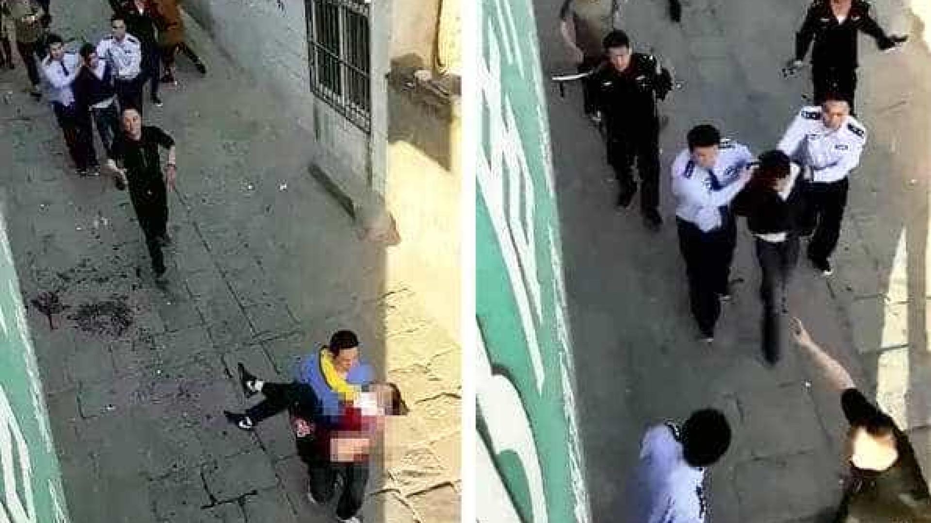 Homem mata com faca sete estuantes na saída de escola na China