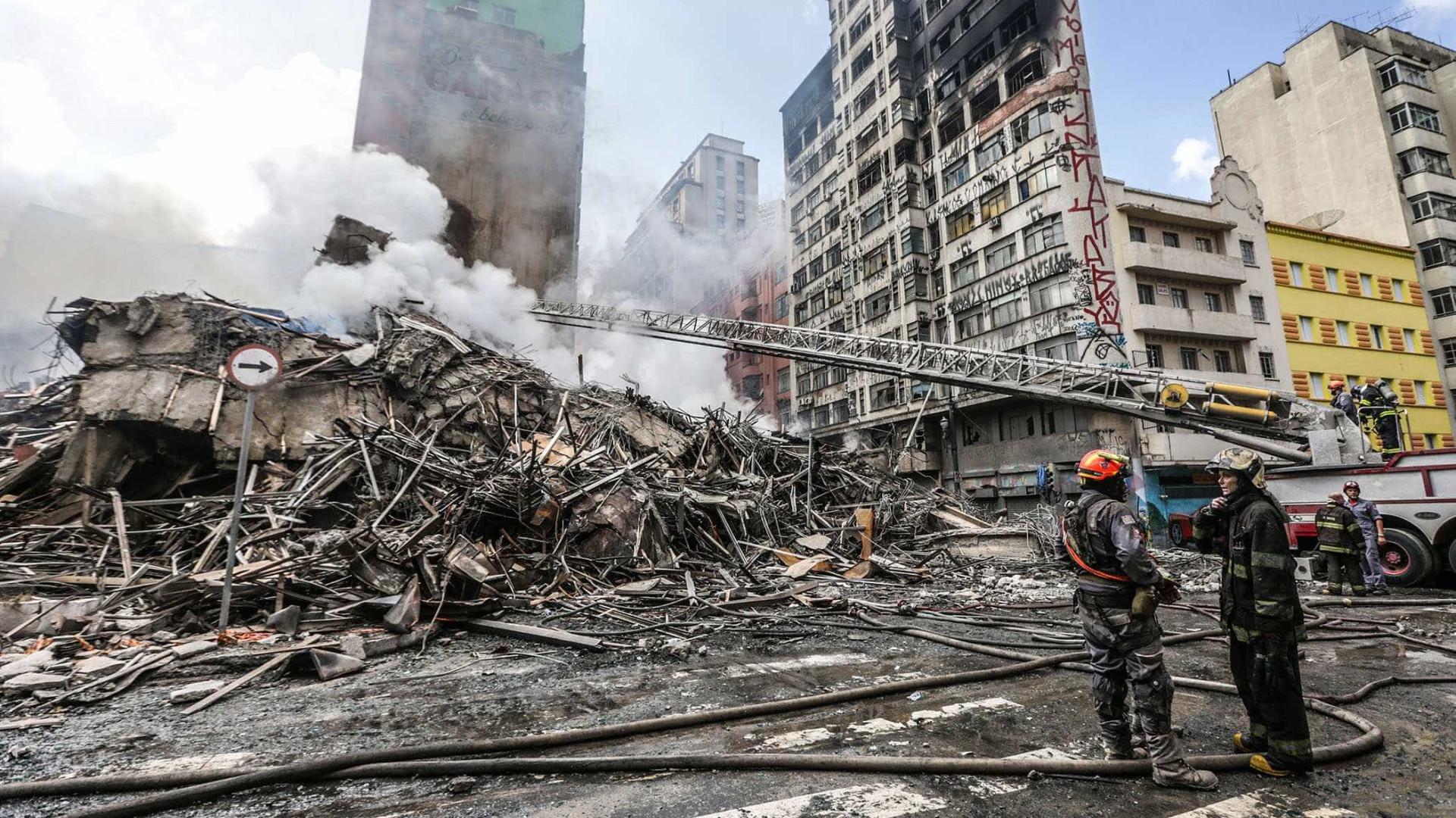 Bombeiros encontram 2º corpo nos escombros do prédio que desabou em SP