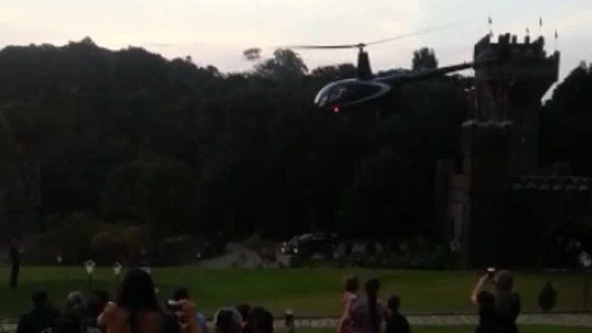 Helicóptero que transportava noiva cai no interior de SP; há feridos