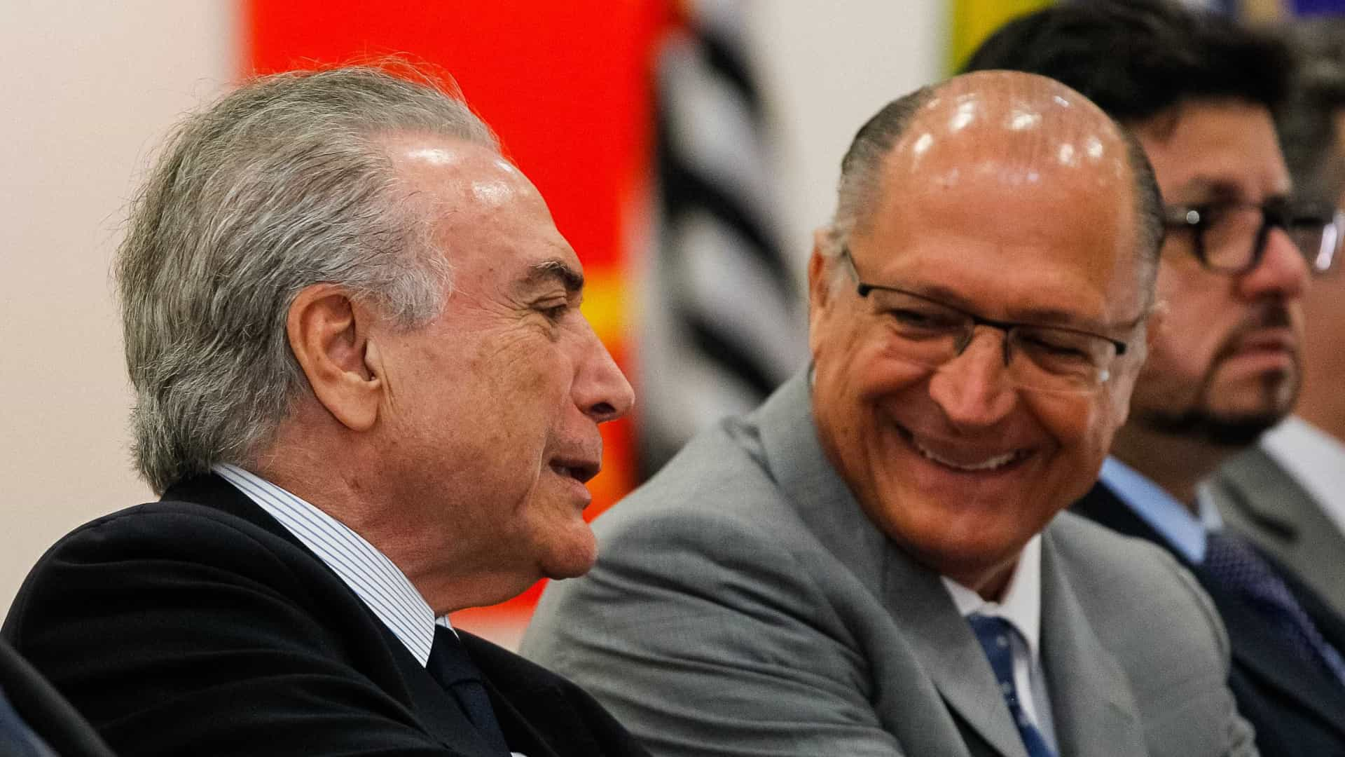 Alckmin diz que Temer não será candidato