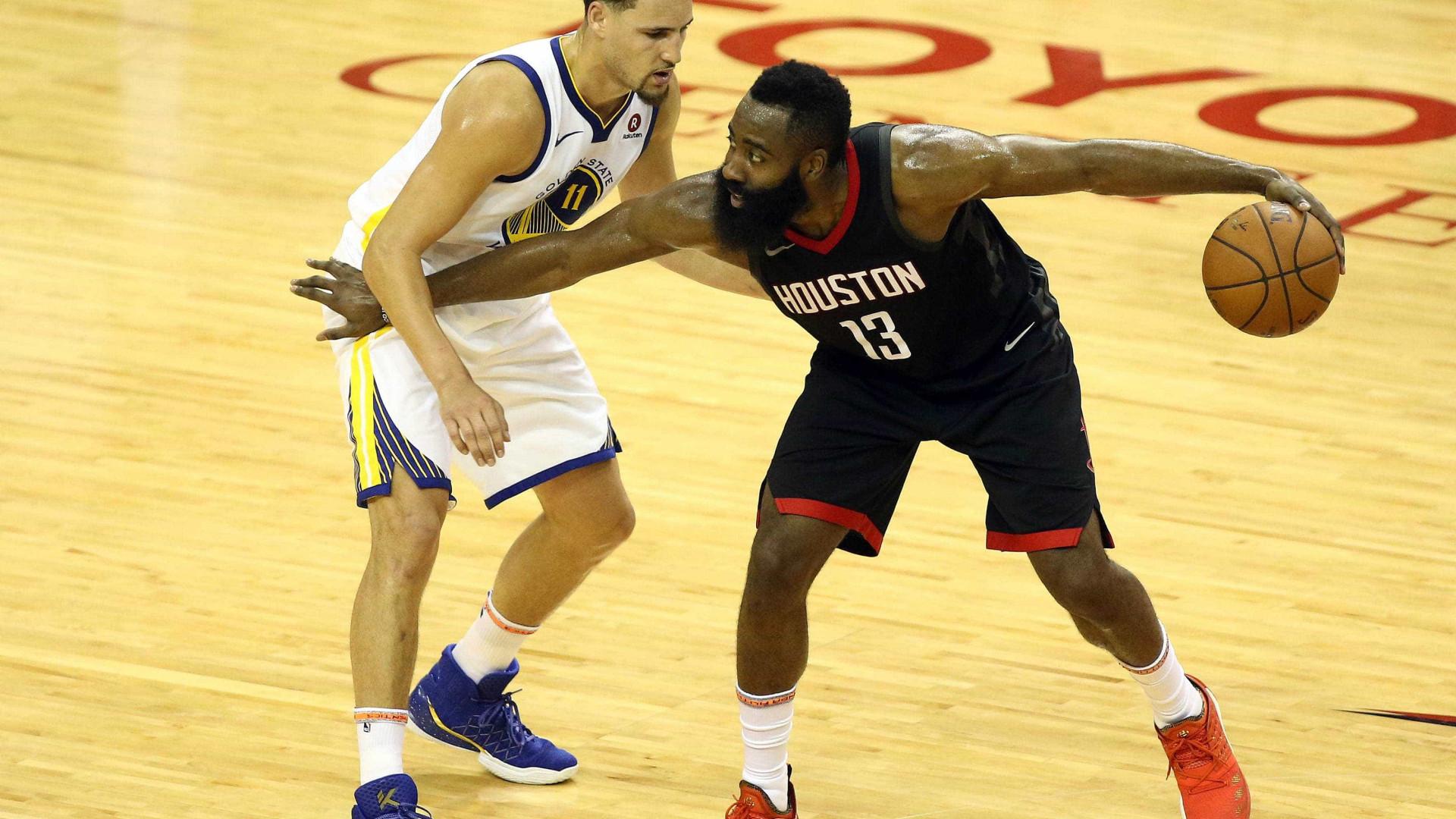 Mesmo com show de Durant, Warriors perdem para o Houston Rockets