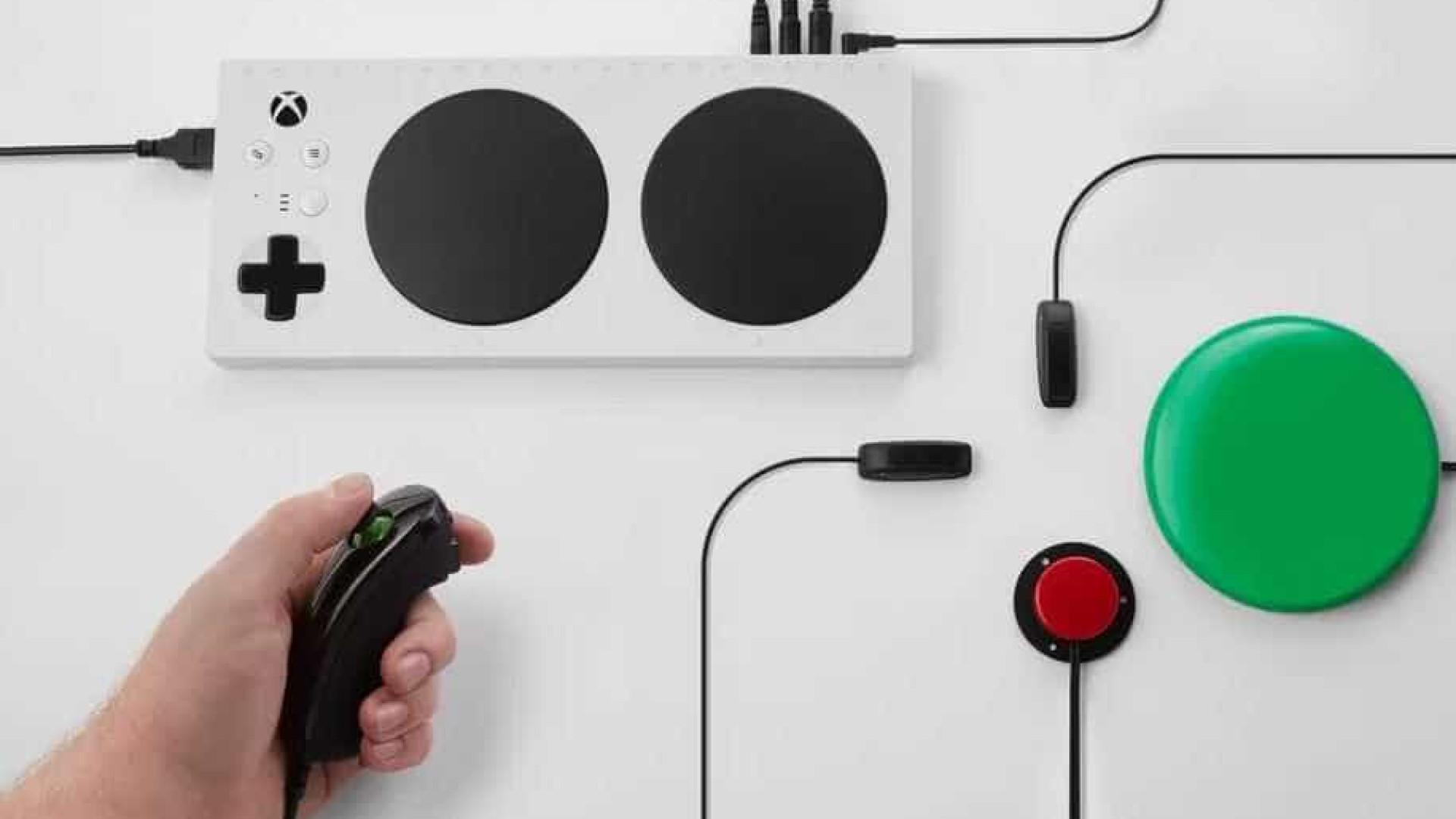 Microsoft vai lançar controle de Xbox para pessoas com deficiência física