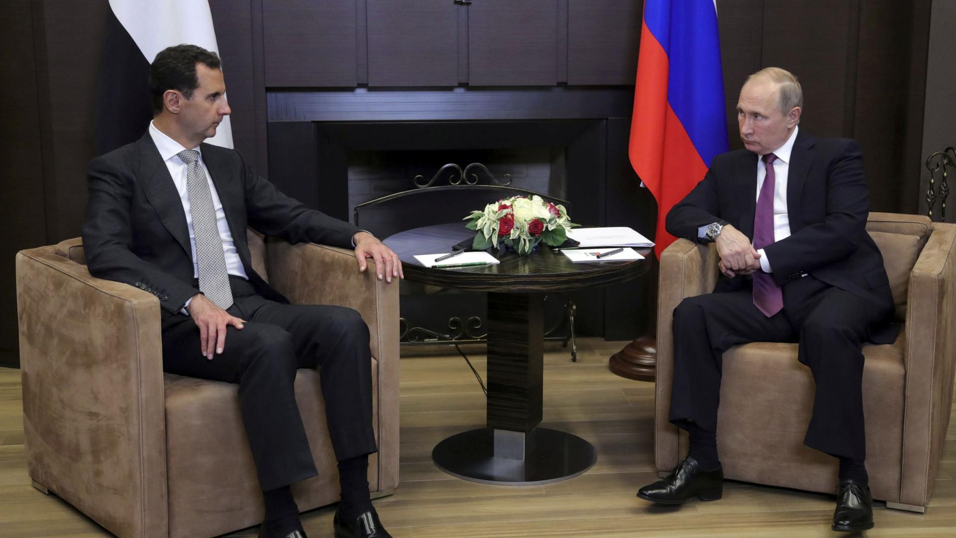 Presidente sírio está na Rússia para falar com Putin