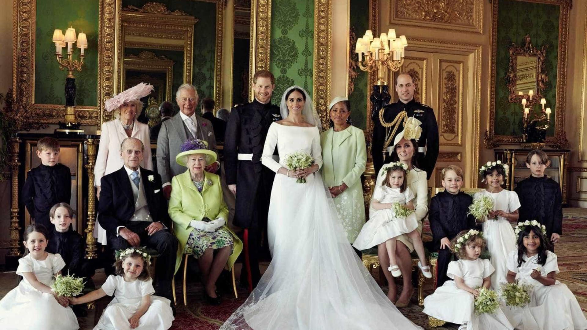 Harry e Meghan divulgam as fotos oficiais do casamento real