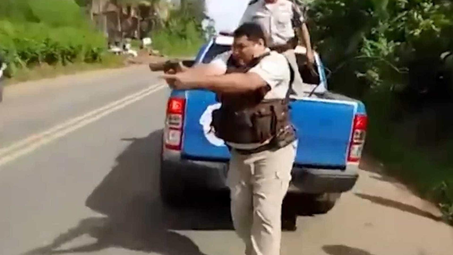 Policial atira em meio a protesto de caminhoneiros na Bahia