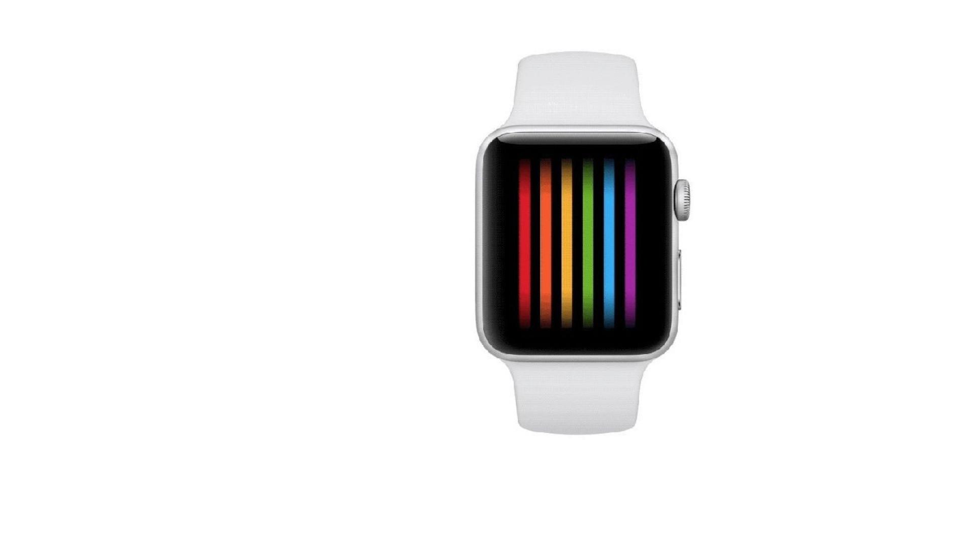 Visor do relógio da Apple celebra comunidade LGBTQ