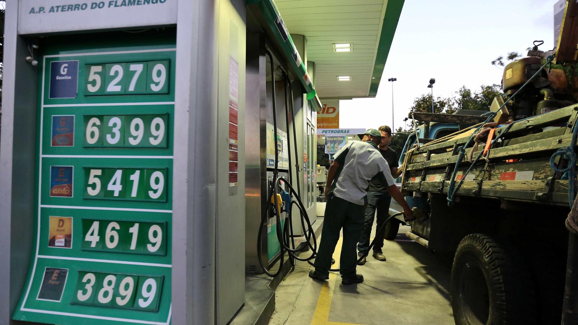 Gasolina já passa de R$ 5 em postos da cidade São Paulo