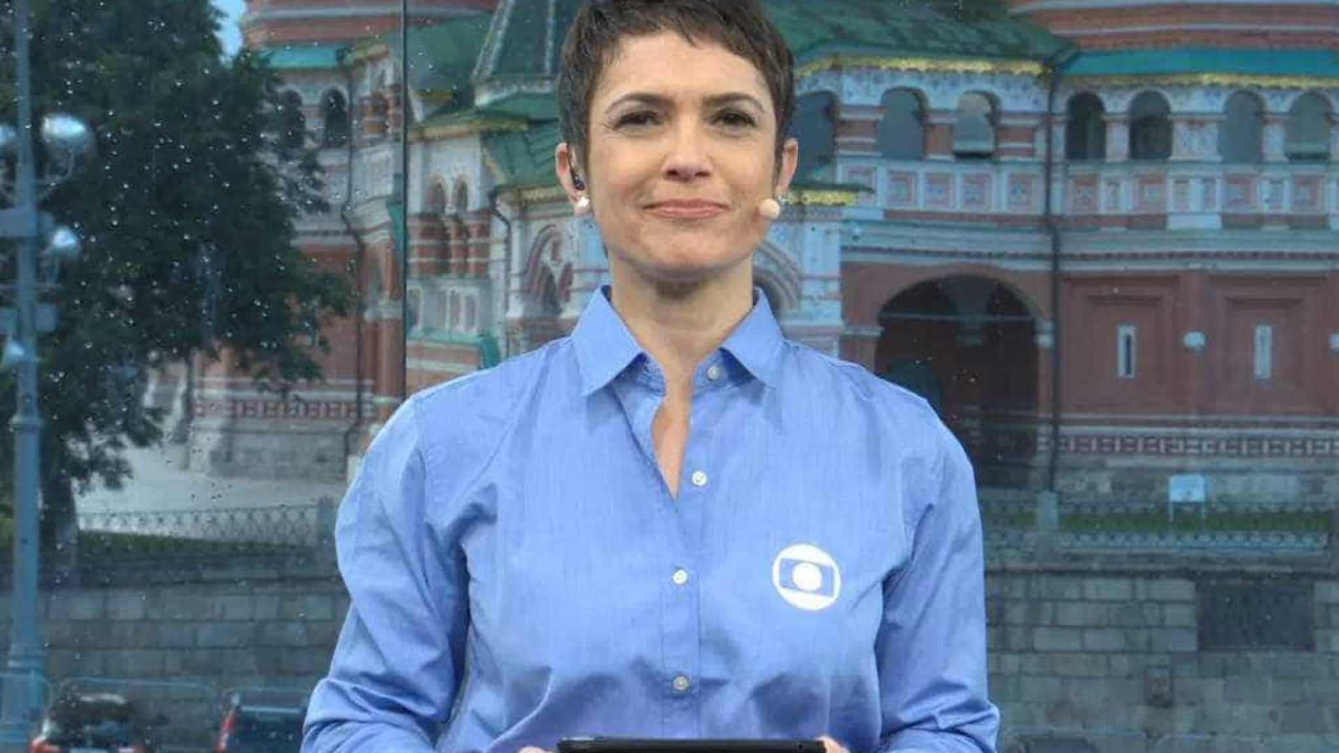 Depois de Gentil, Sandra Annenberg passa mal durante cobertura da Copa