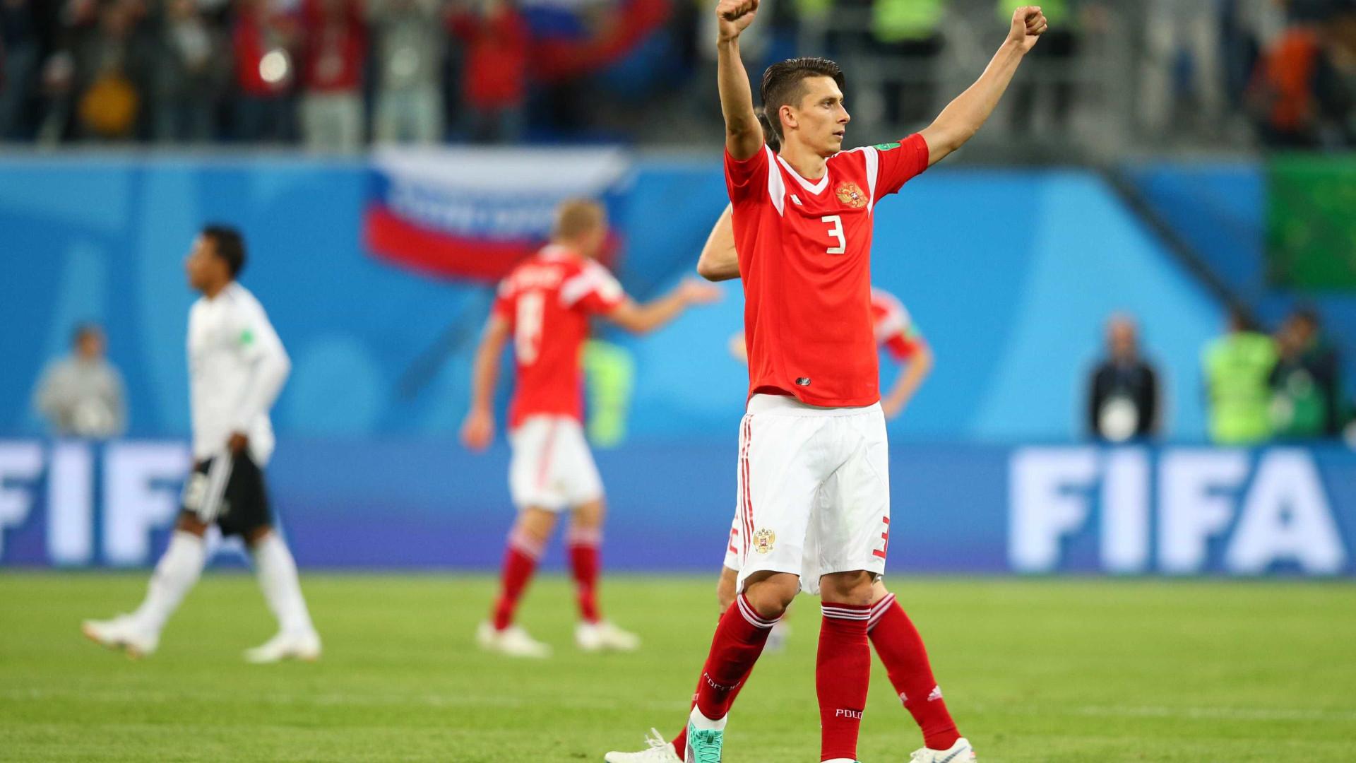 Rússia vence Egito por 3 x 1 e mantém primeiro lugar do Grupo A