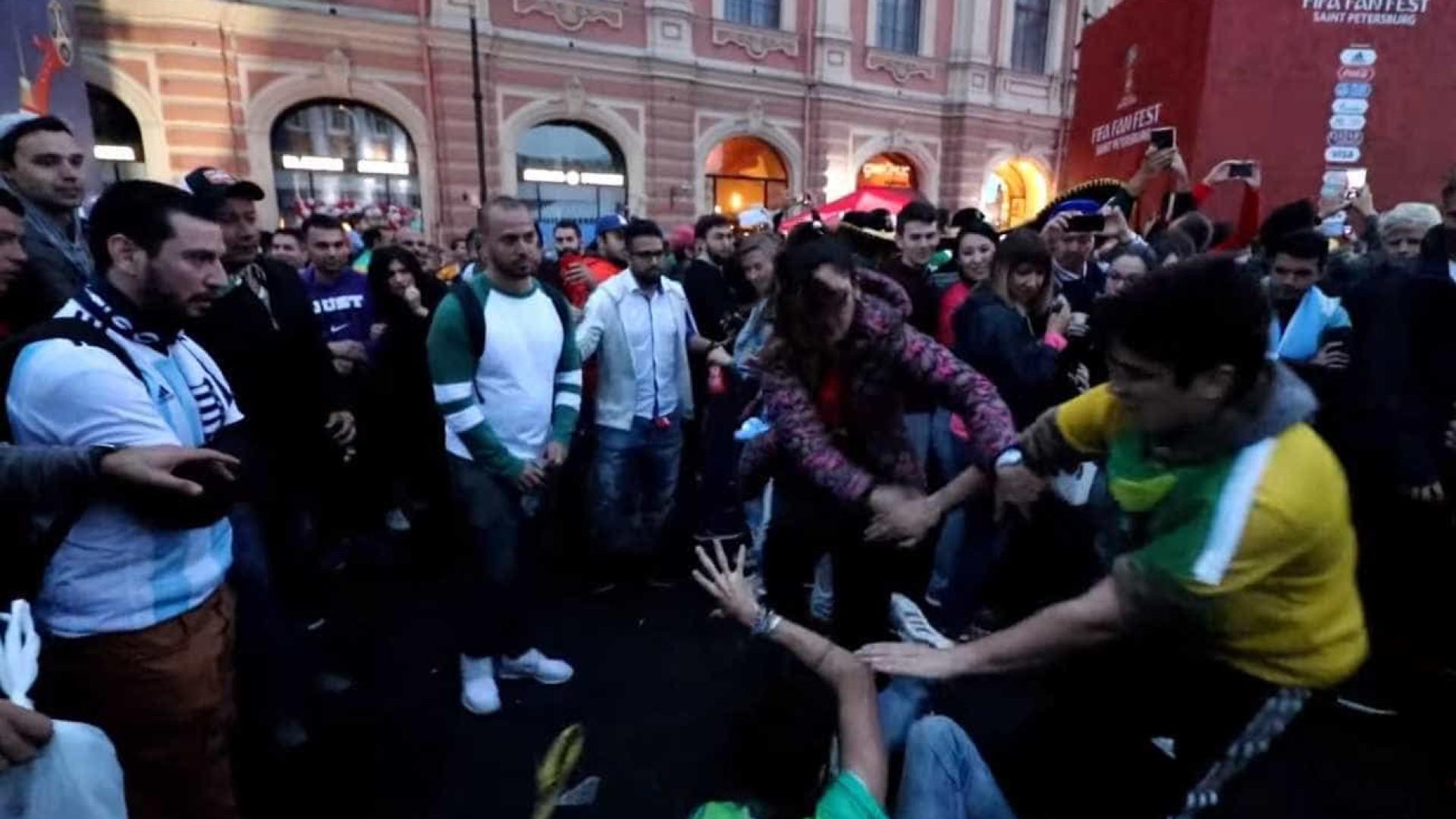 #MaisVistos: Brasileiros e argentinos se envolvem em pancadaria
