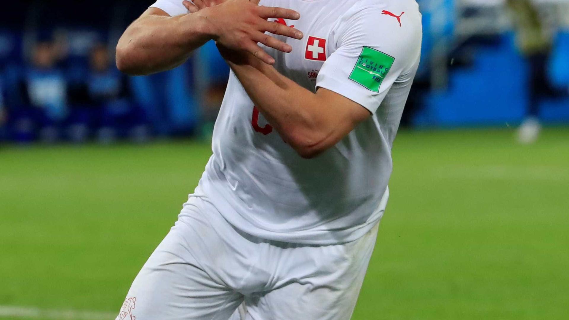Fifa abre processo contra dupla suíça após comemoração polêmica