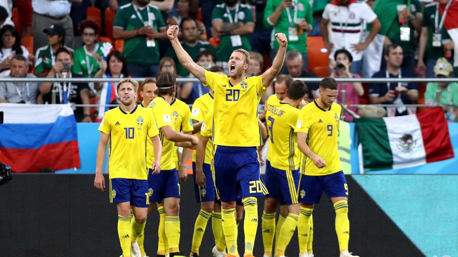 Suécia coloca o México na roda, faz 3 a 0 e vai às oitavas da Copa