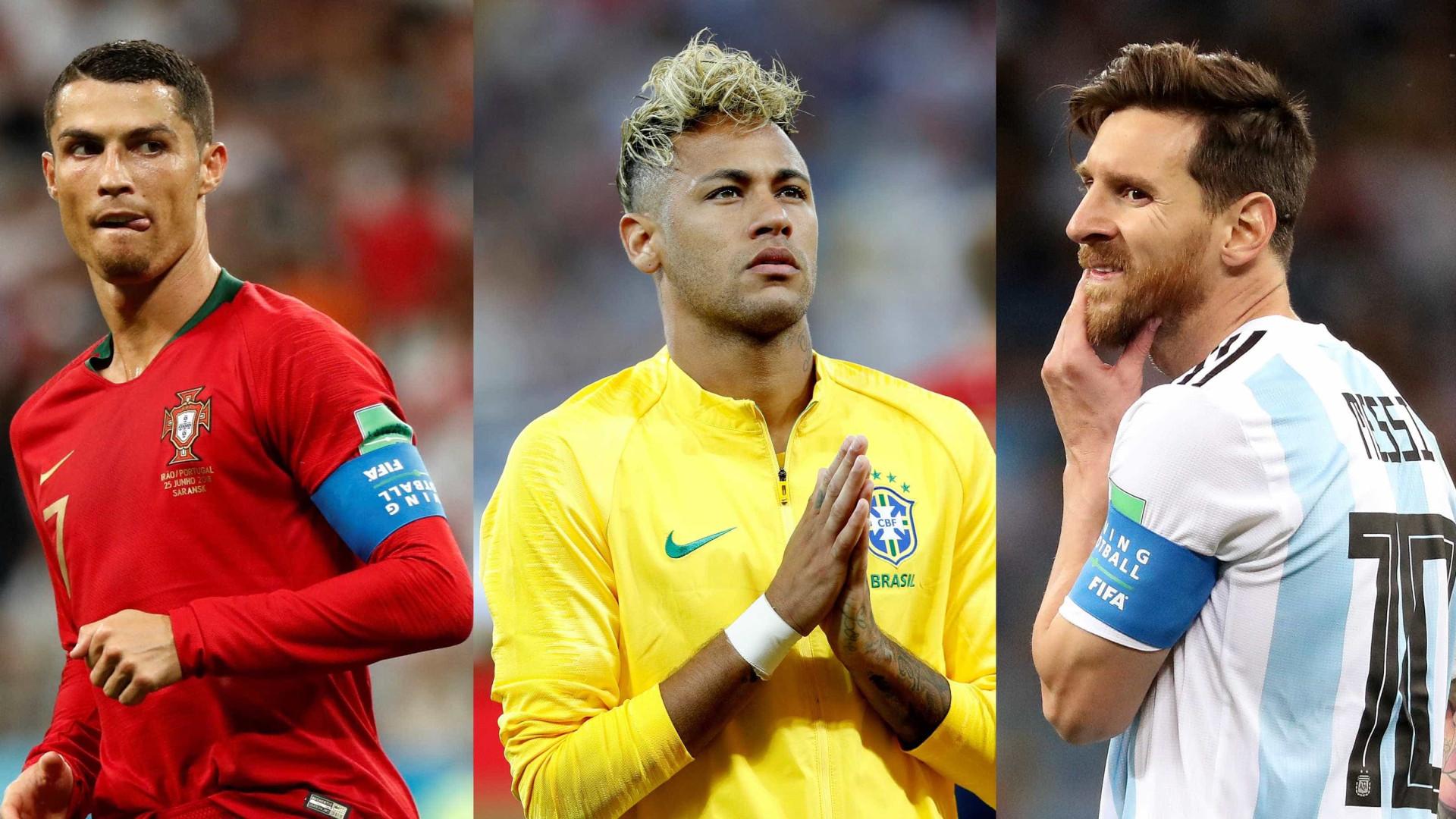 Neymar, Messi e Cristiano Ronaldo: só um deles pode chegar à final