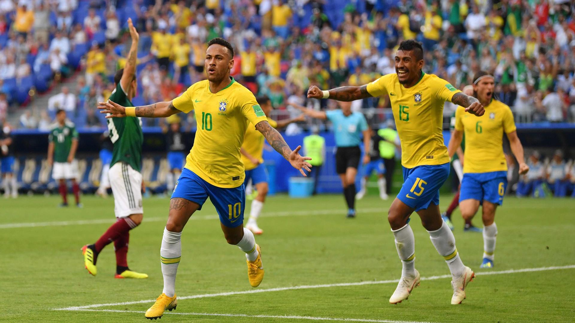 Brasil nas quartas! Neymar e Firmino marcam, e seleção elimina o México
