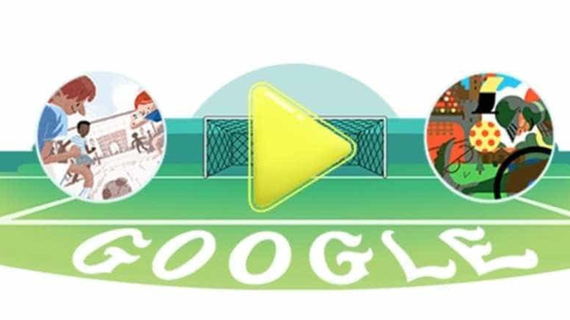Semifinal França x Bélgica ganha Doodle do Google