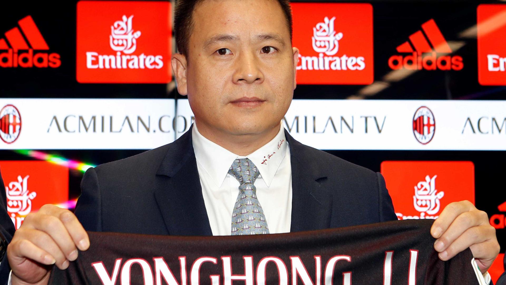 Chinês Li Yonghong não é mais o dono do Milan
