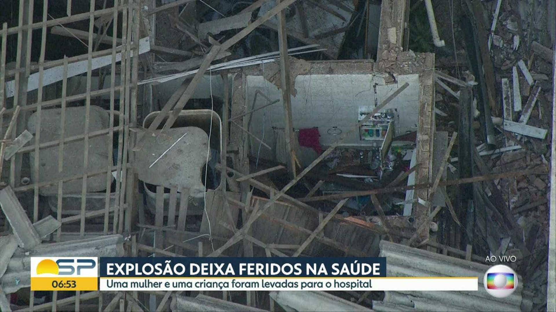 Explosão de gás deixa feridos na Zona Sul de São Paulo