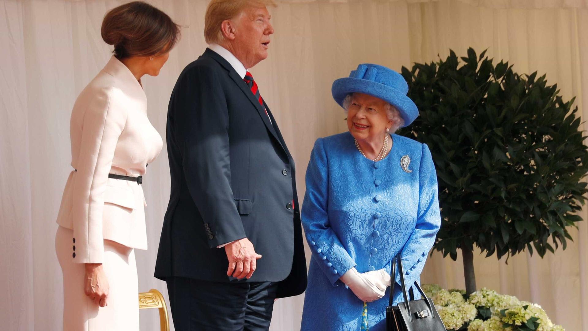 Trump chega a Windsor e é recebido pela rainha Elizabeth 2ª