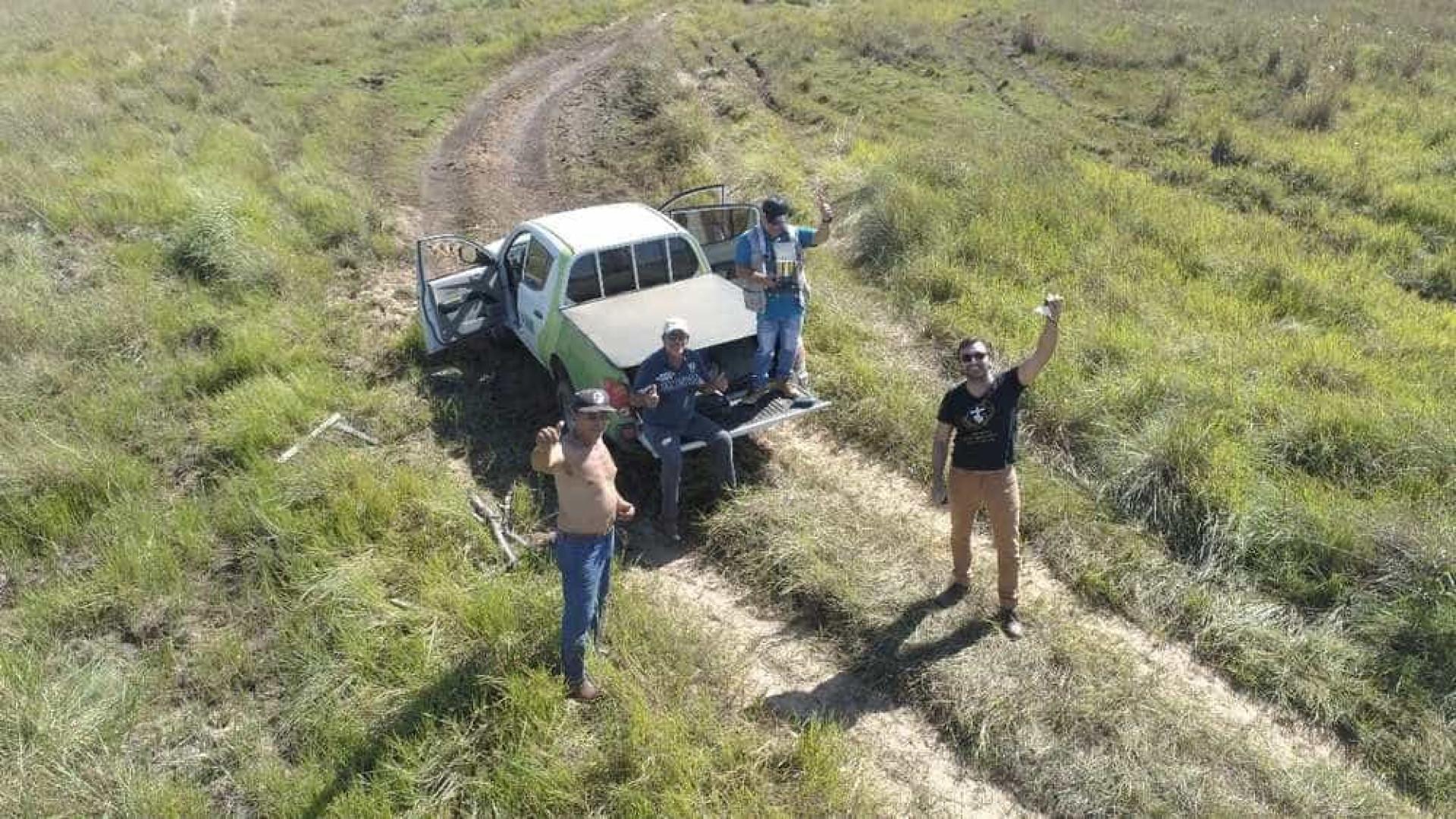 Equipe usa drone para pedir socorro no meio do Pantanal