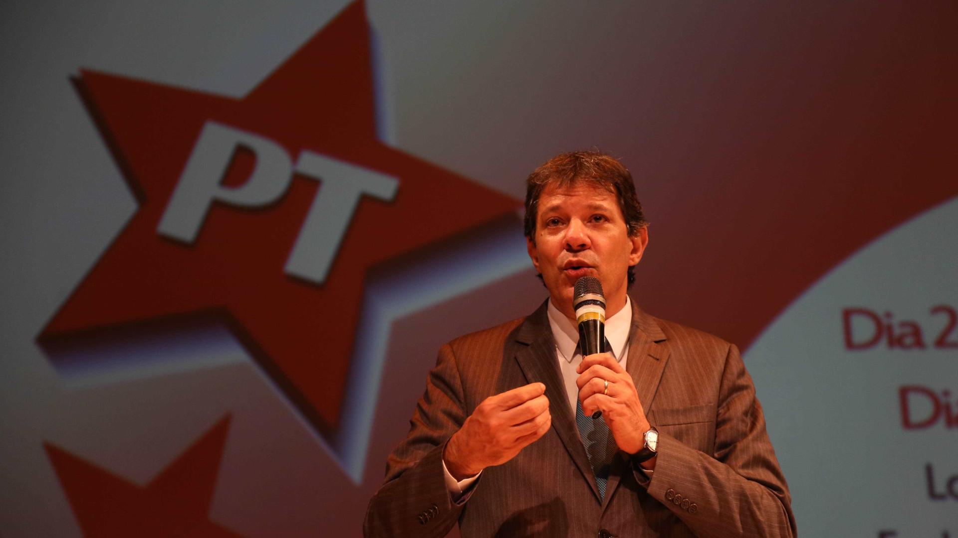 Se Lula concorrer às eleições, disputa termina no 1º turno, diz Haddad