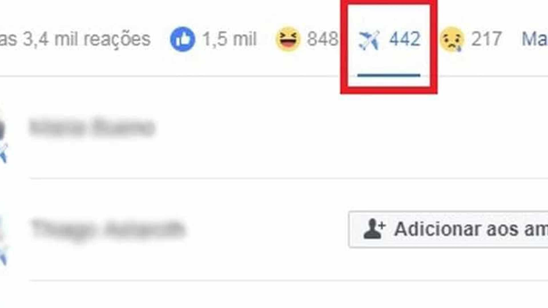 Como reagir com avião no Facebook? Bug cria reação inédita