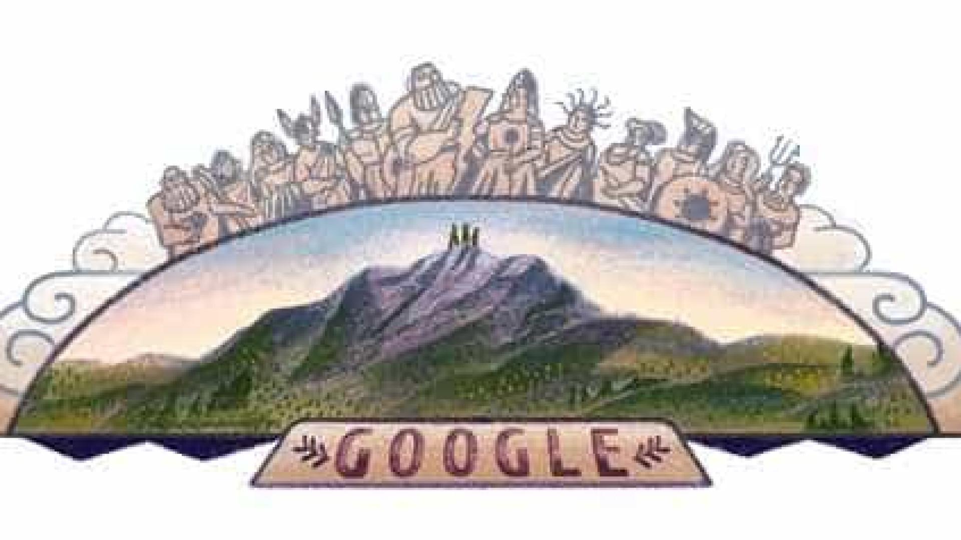 Doodle homenageia conquista do Monte Olimpo, na Grécia, nesta quinta