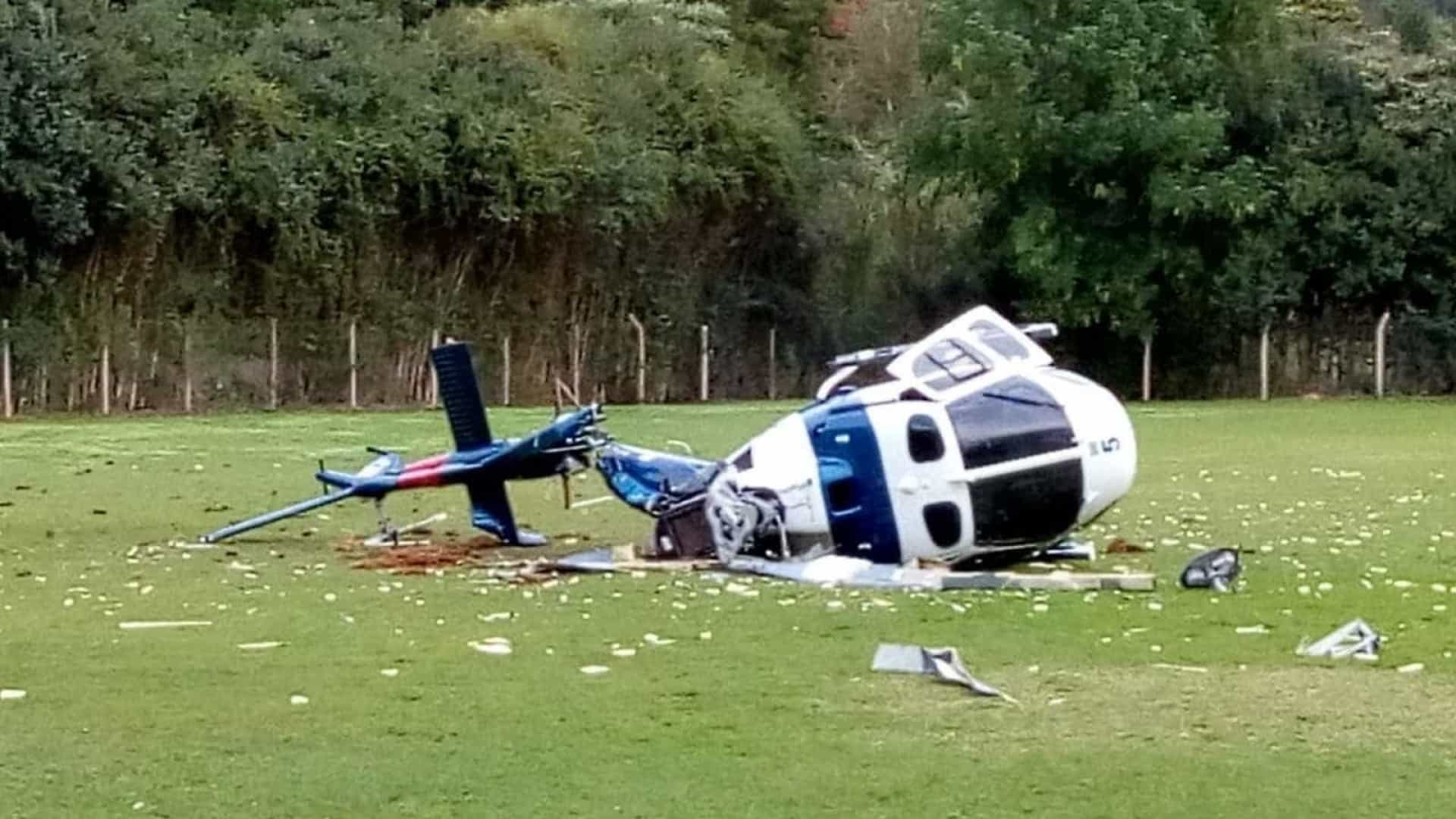 Helicóptero da PM cai com governador do ES a bordo