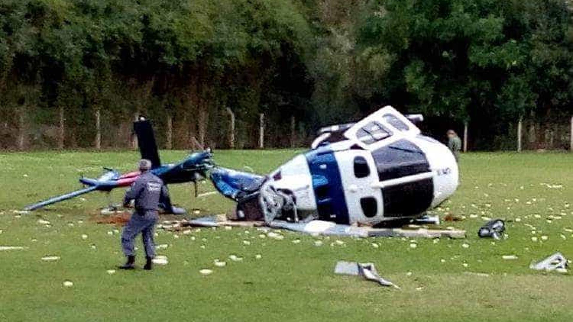 Governador do ES que caiu de helicóptero grava vídeo: estão todos bem