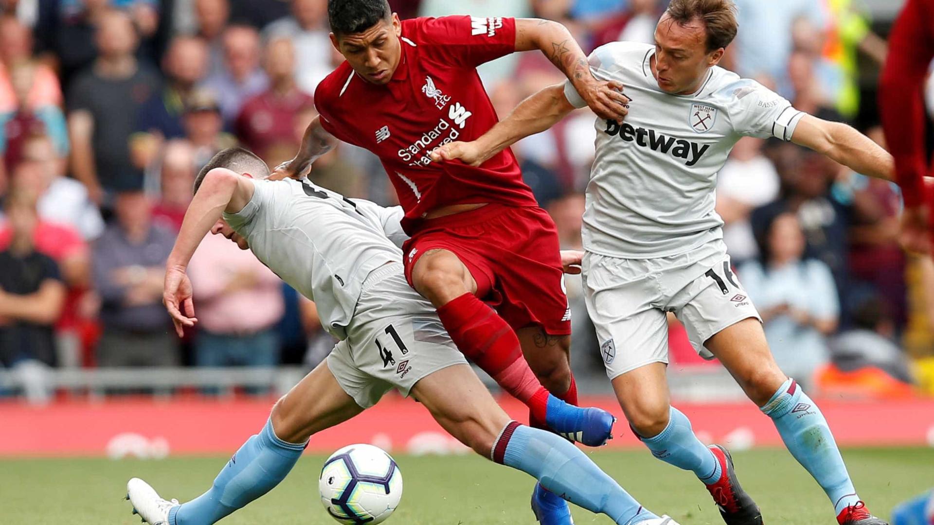 Liverpool de Firmino e Alisson atropela o West Ham