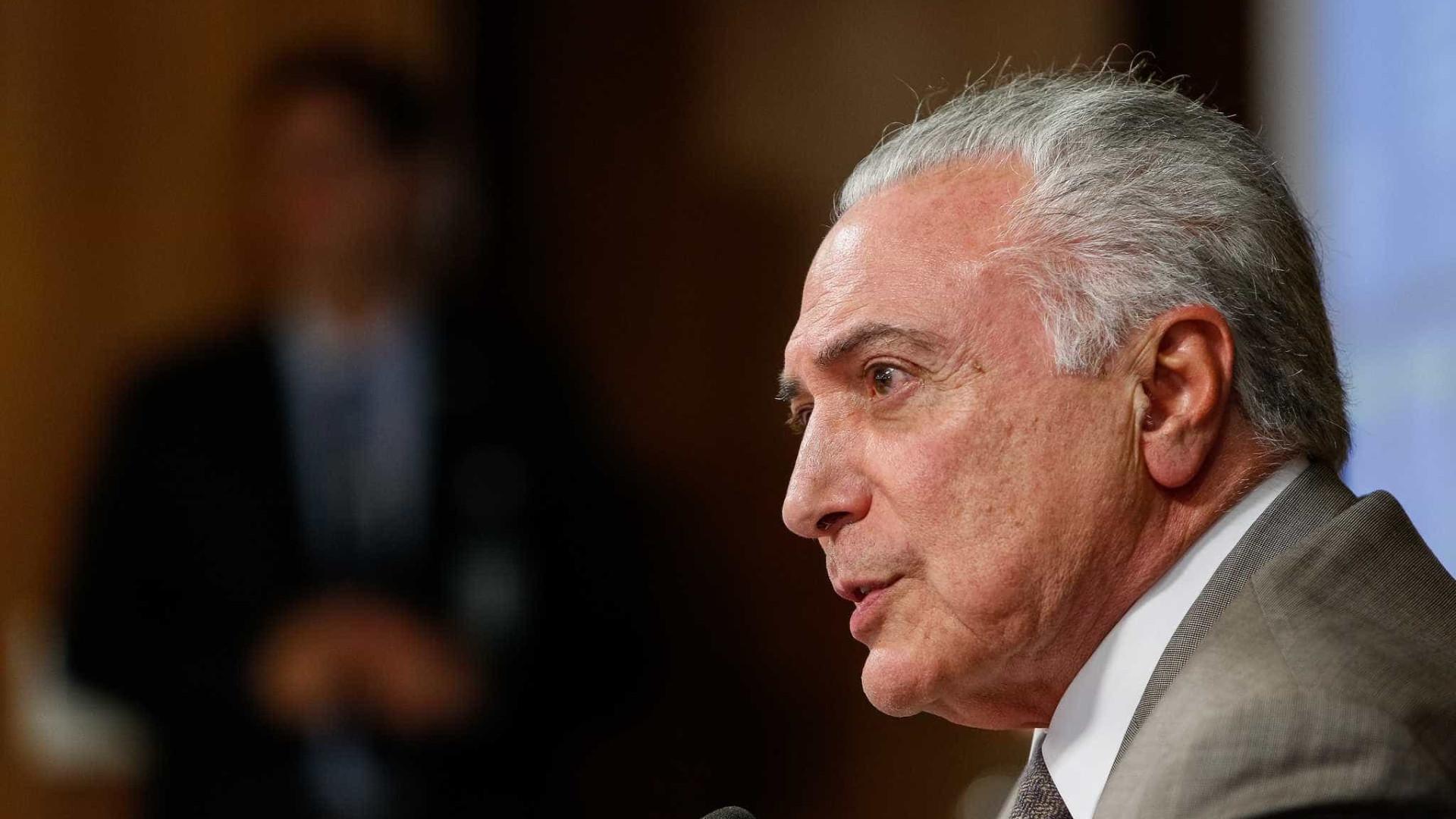 Brasil criou mais de 100 mil empregos em agosto, diz Temer