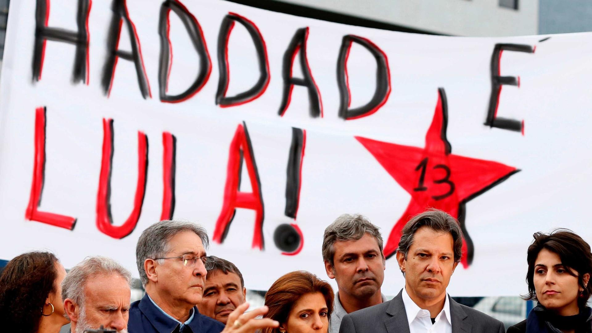 Parcela de eleitores que liga Lula a Haddad sobe de 39% para 64%