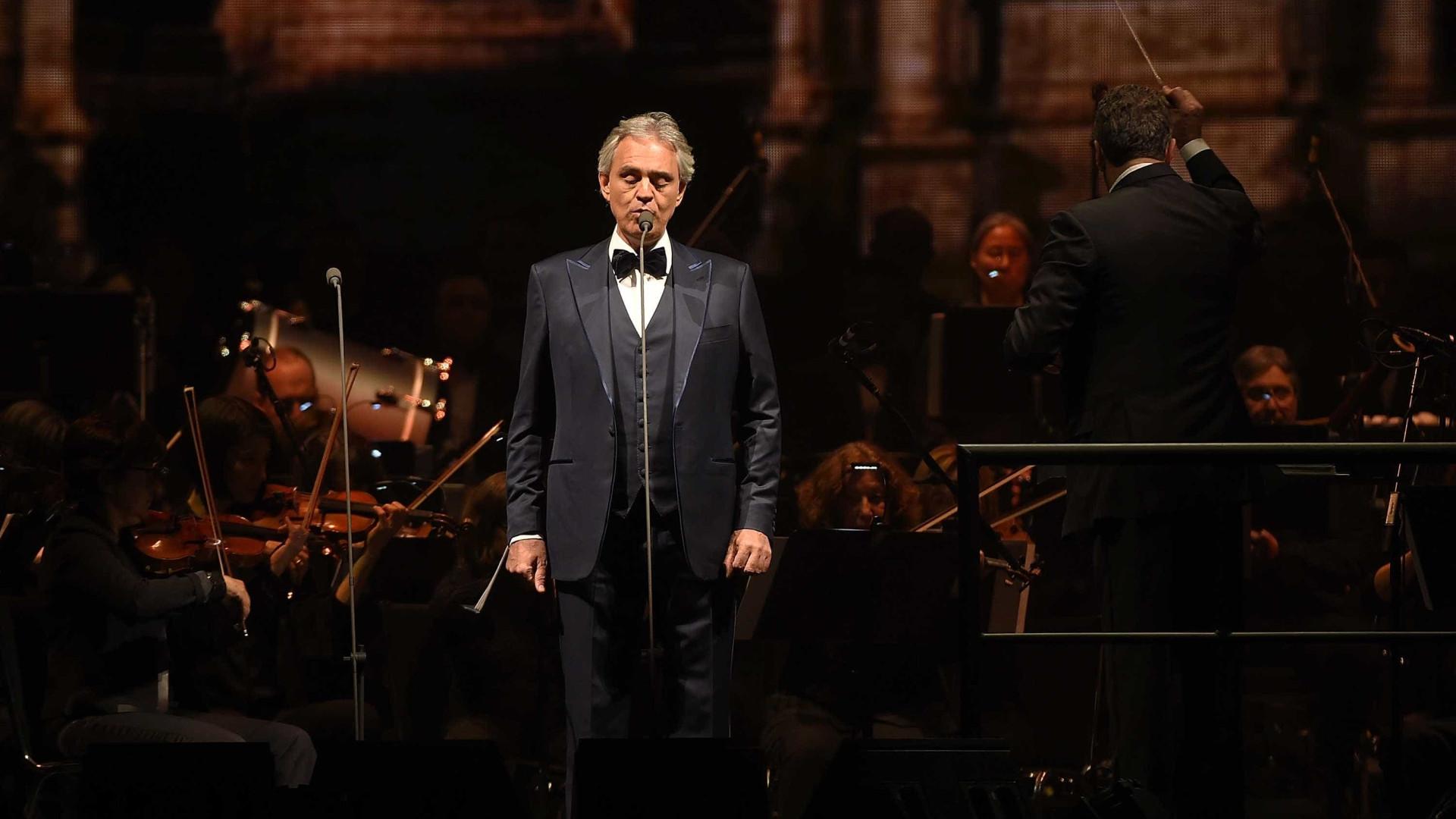 Andrea Bocelli comemora 60 anos e inicia turnê pelo Brasil