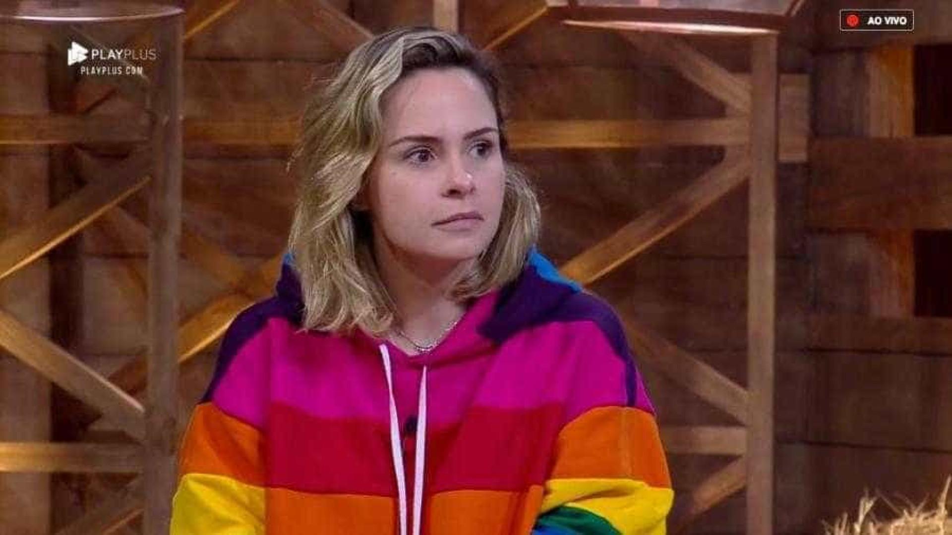 Eliminada de 'A Fazenda', Ana Paula declara: 'Graças a Deus que saí'