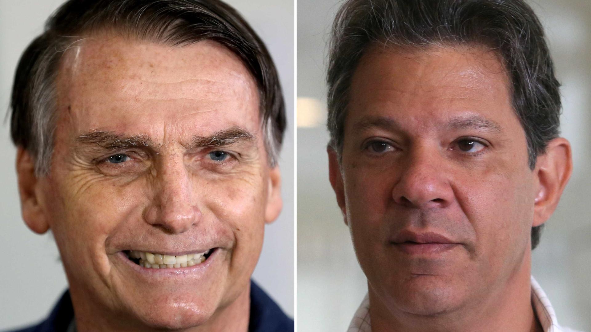 Nova pesquisa Datafolha mostra Bolsonaro com 59%, e Haddad com 41%