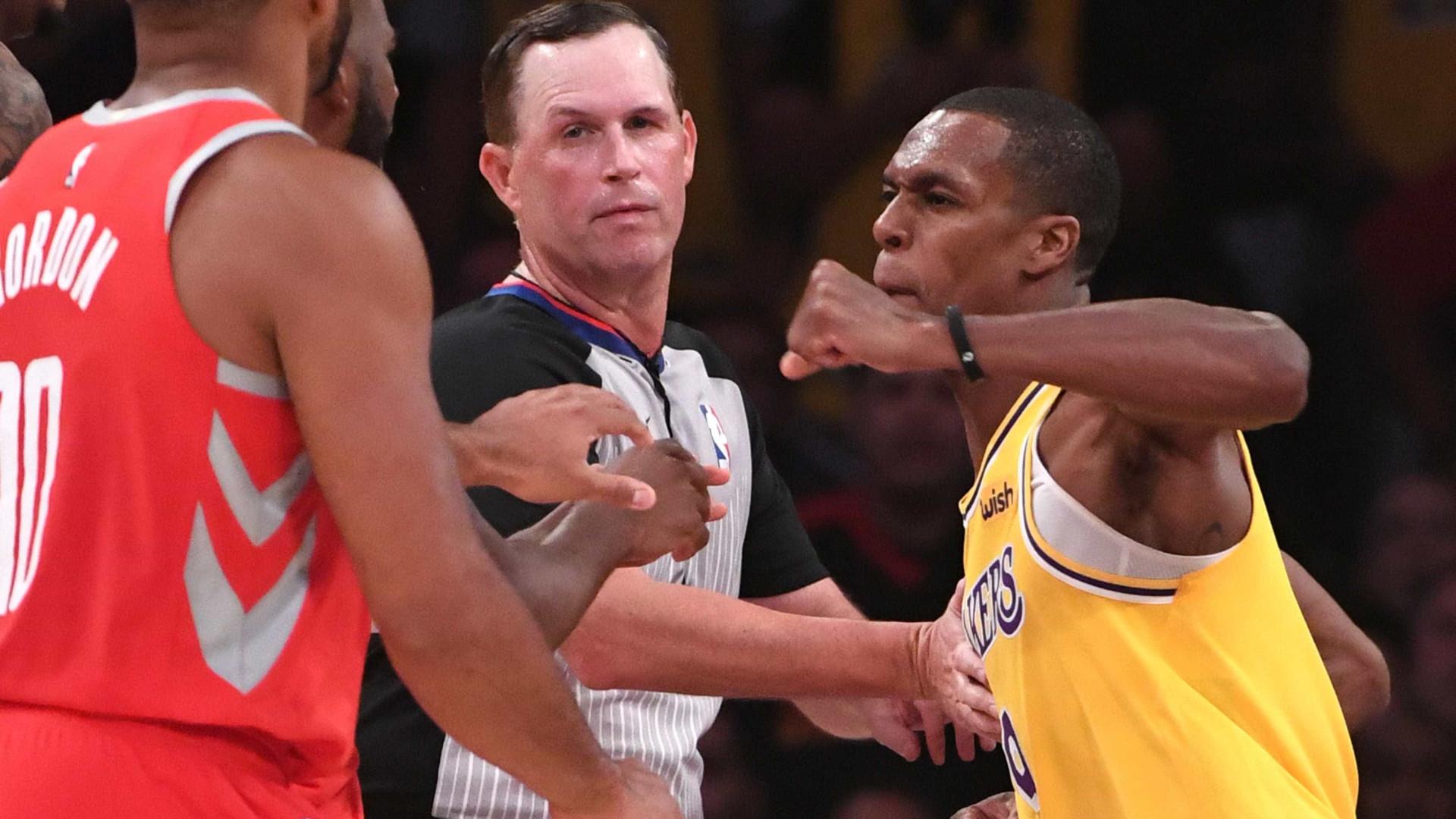 NBA: jogadores de Lakers e Rockets trocam socos durante partida