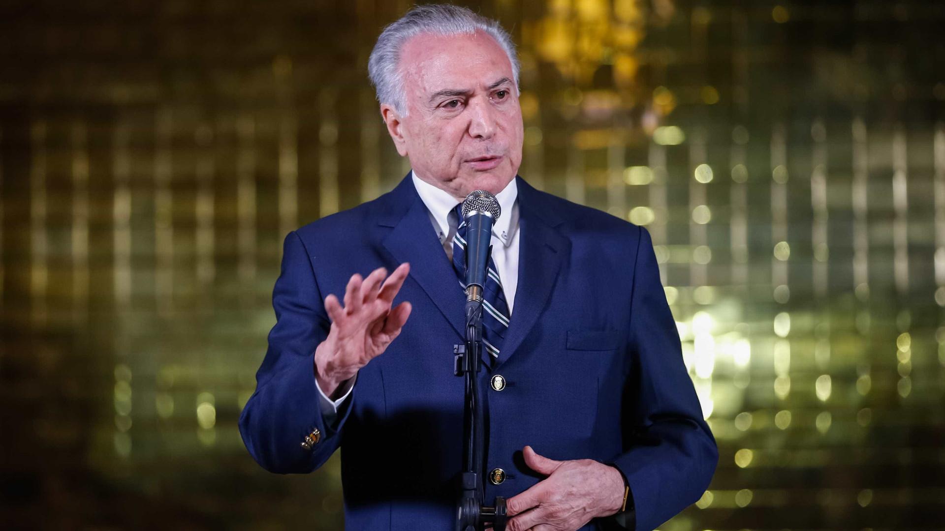 Temer comenta política externa de Bolsonaro: 'Não somos os EUA'