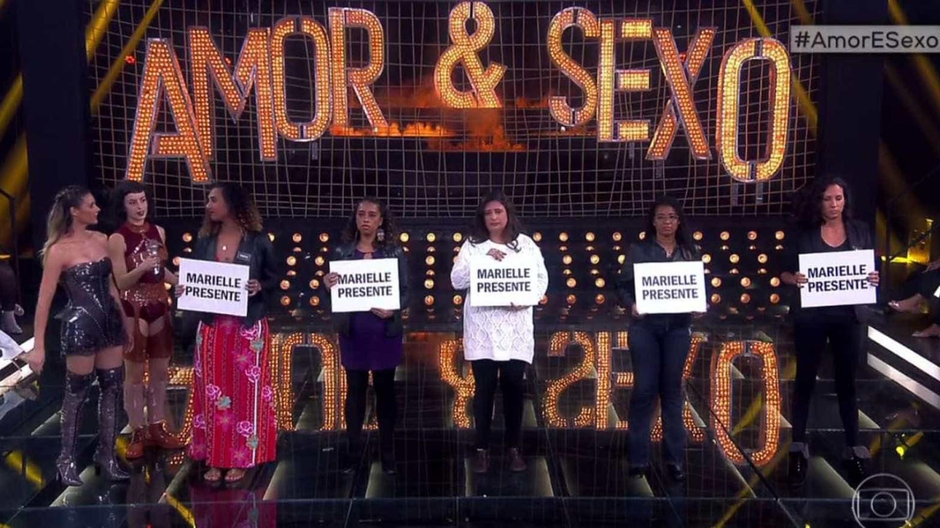 Tributo a Marielle deixa elenco e plateia de 'Amor & Sexo' às lágrimas