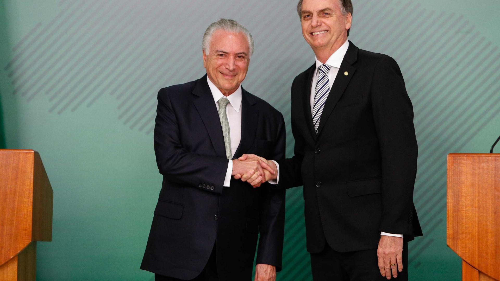 Michel Temer convida Jair Bolsonaro para reunião do G20 na Argentina