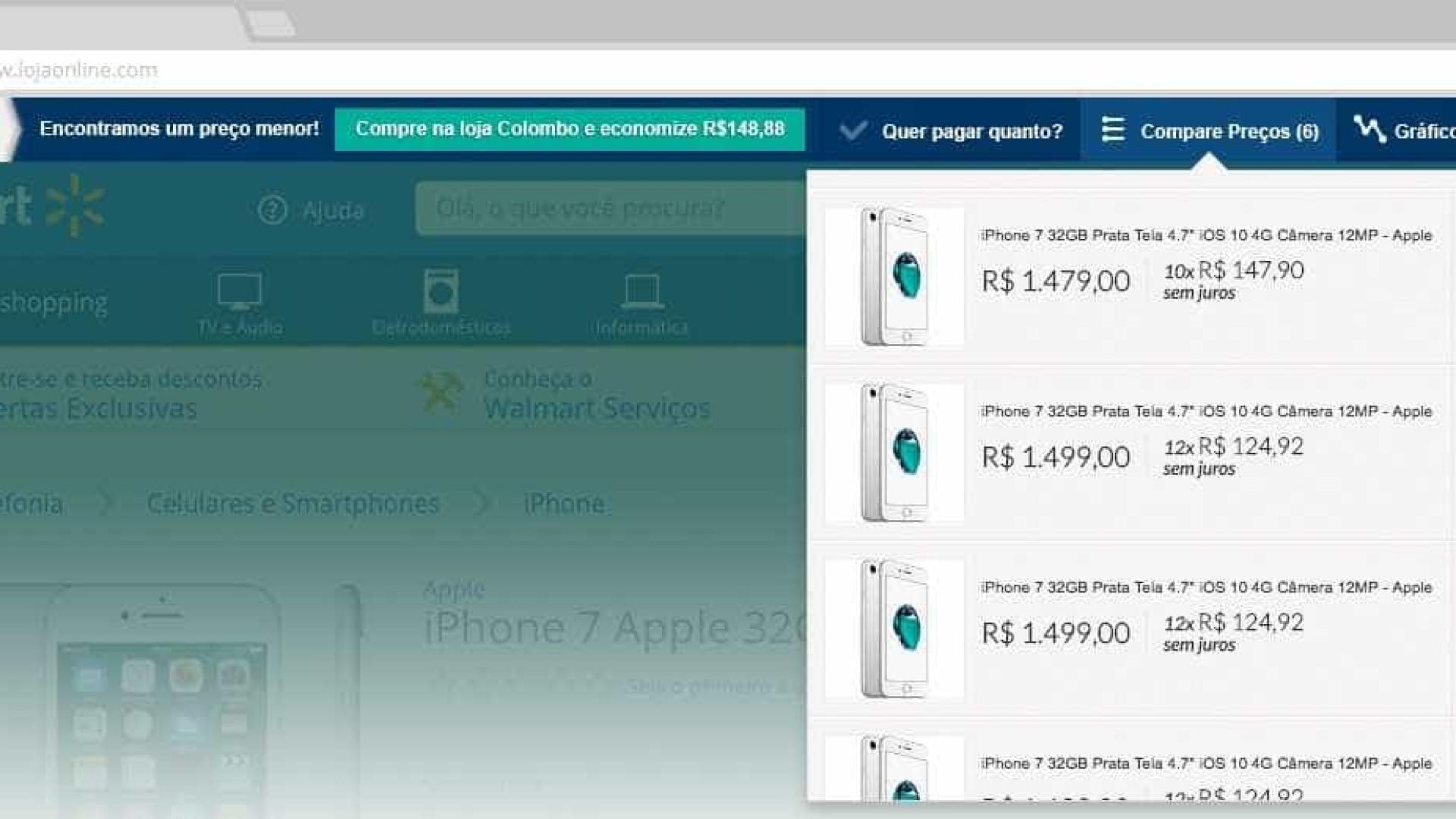 Extensão de navegador mostra se produto está mais barato em outra loja