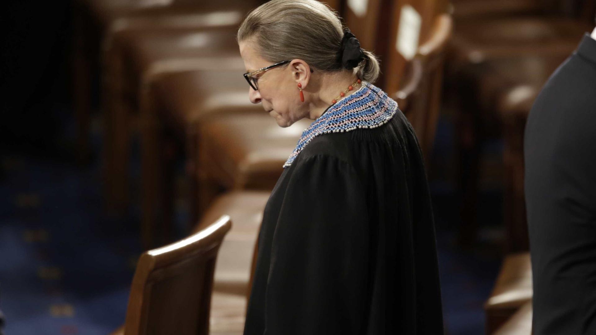 Juíza da Suprema Corte dos EUA é internada após queda