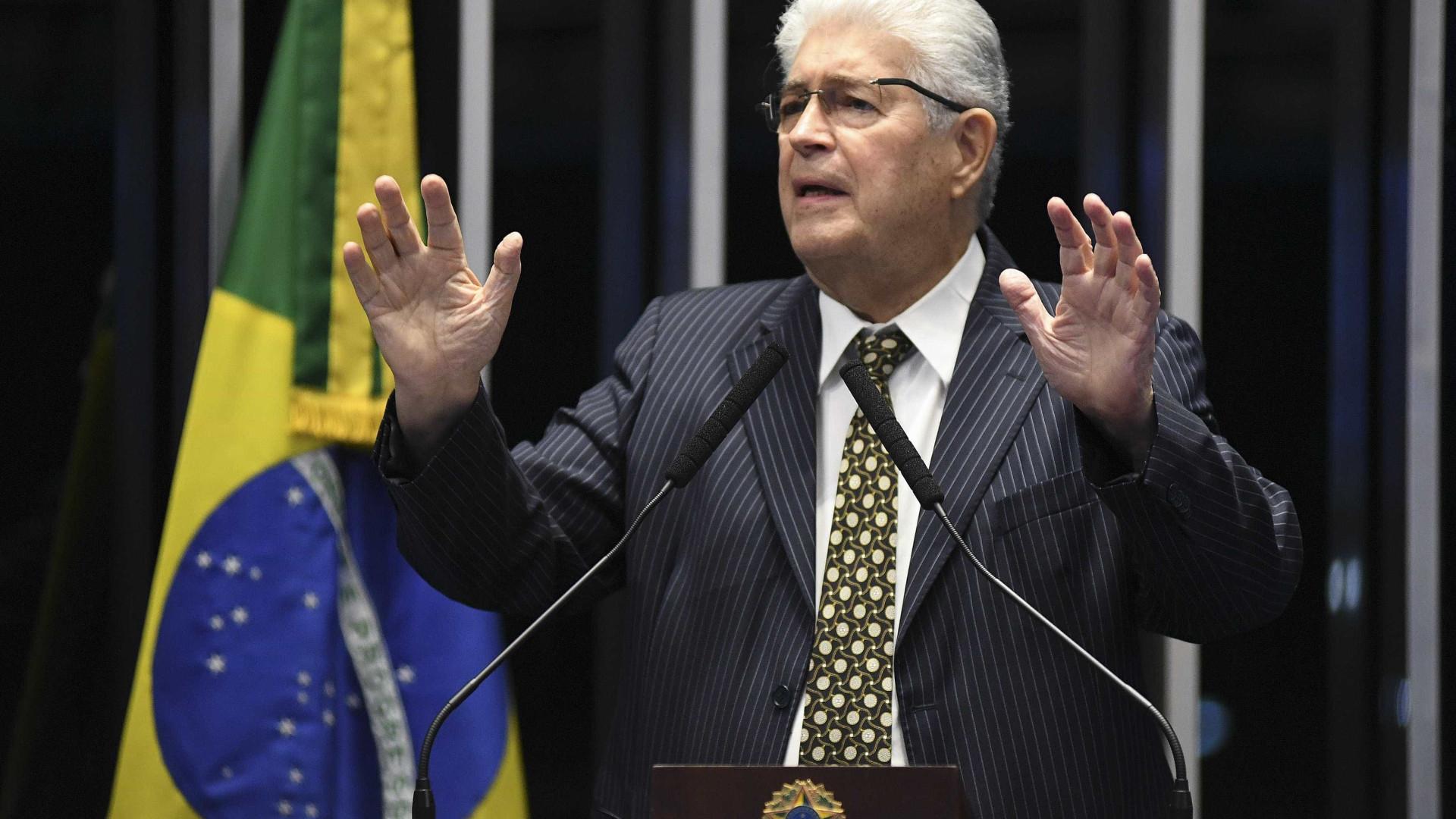 Requião ironiza Moro e propõe projeto de lei 'Onyx Lorenzoni'