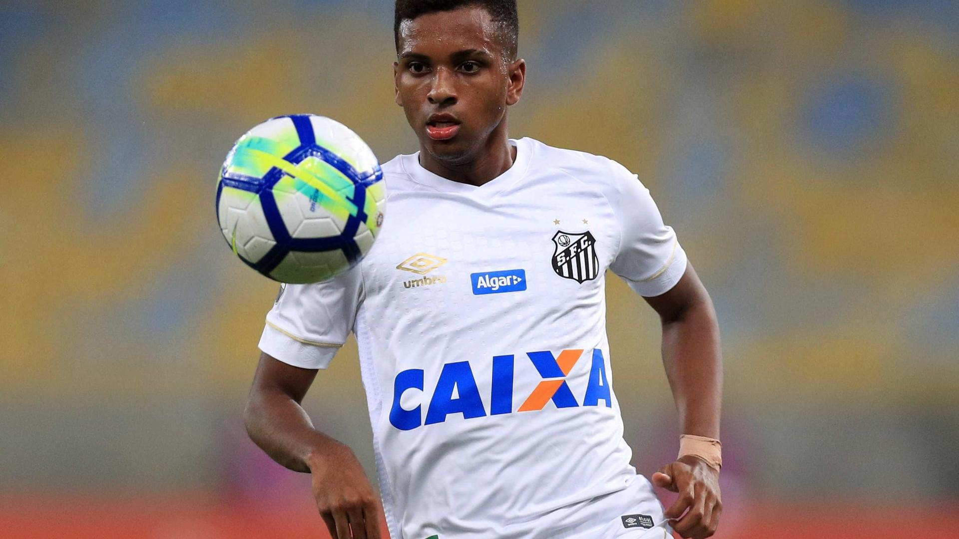 Rodrygo reforça o Santos em jogo contra a Chape nesta segunda