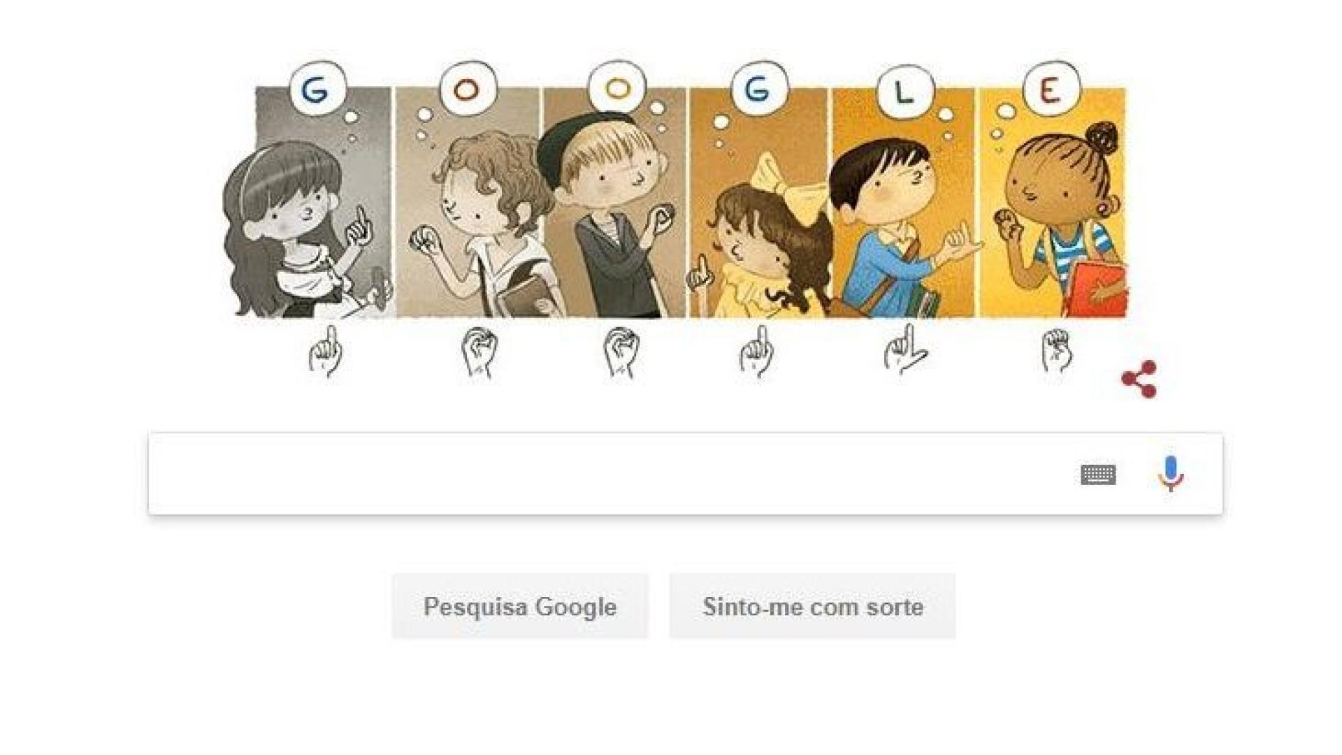 Google homenageia o pioneiro em educação de surdos