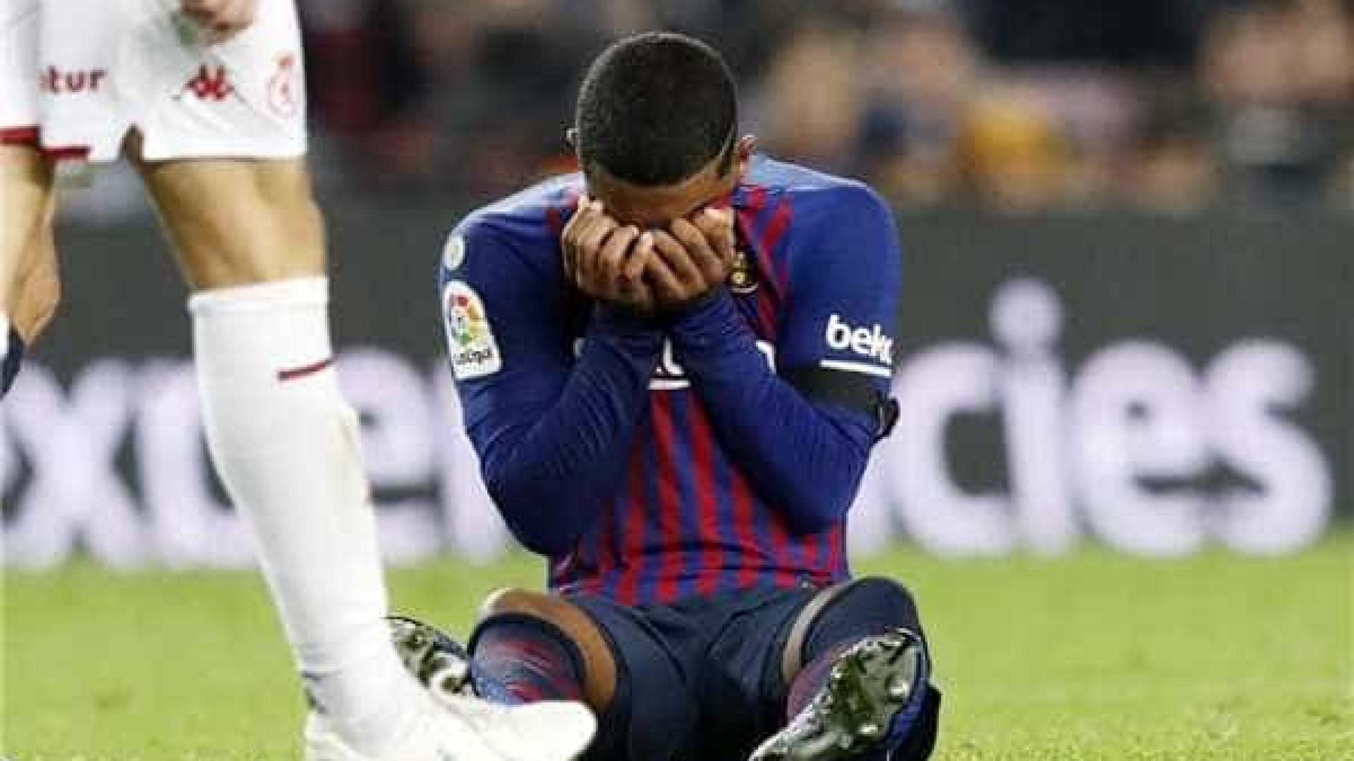 Malcom marca, mas sofre lesão e chora em goleada do Barcelona