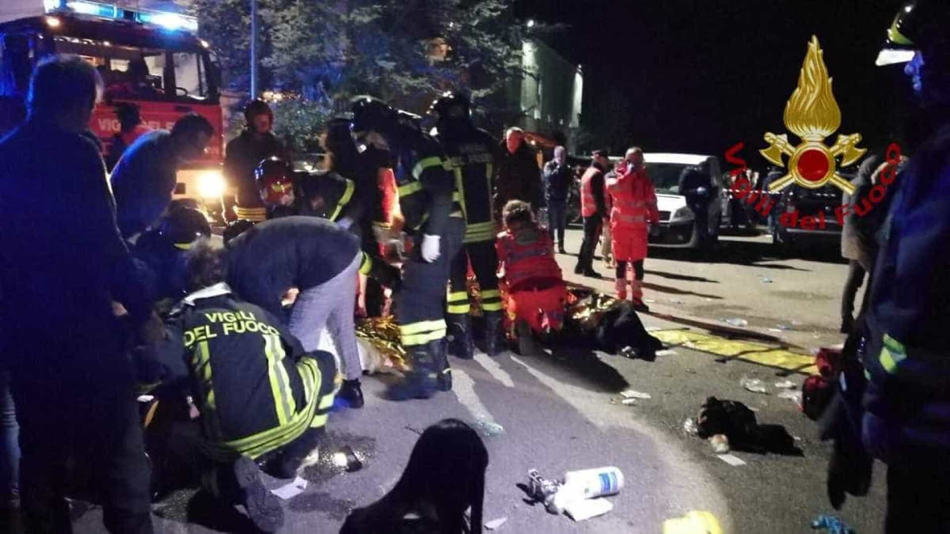 Itália: 6 morrem pisoteados e mais de 100 ficam feridos em boate