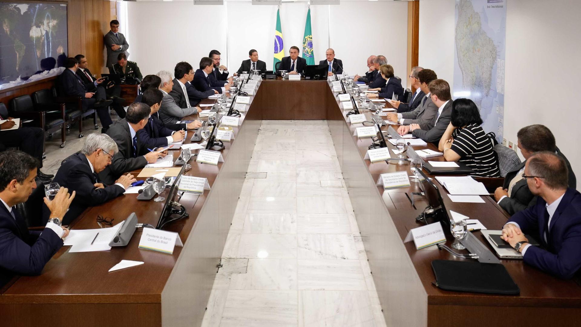 Segunda reunião ministerial termina após quase três horas