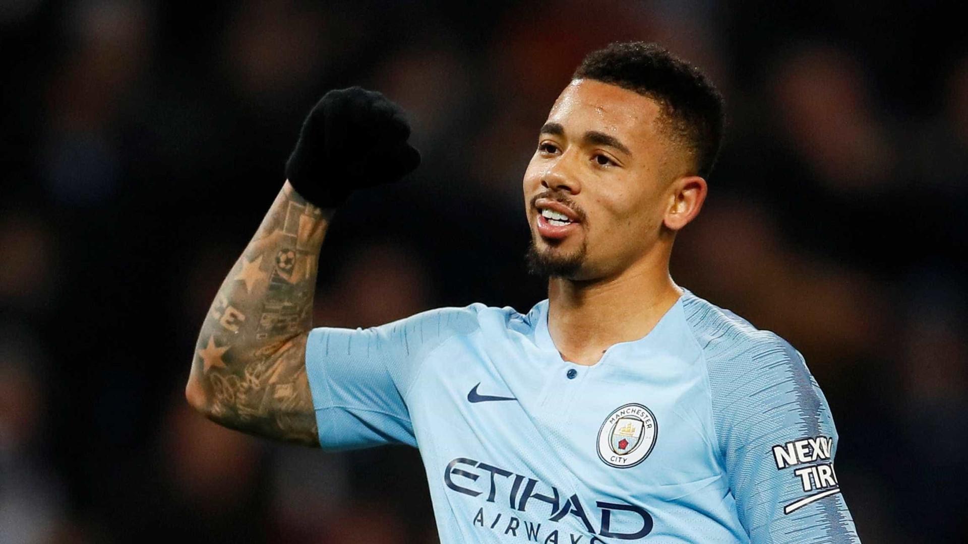 Com 4 gols de Gabriel Jesus, City faz 9 a 0 na Copa da Liga Inglesa