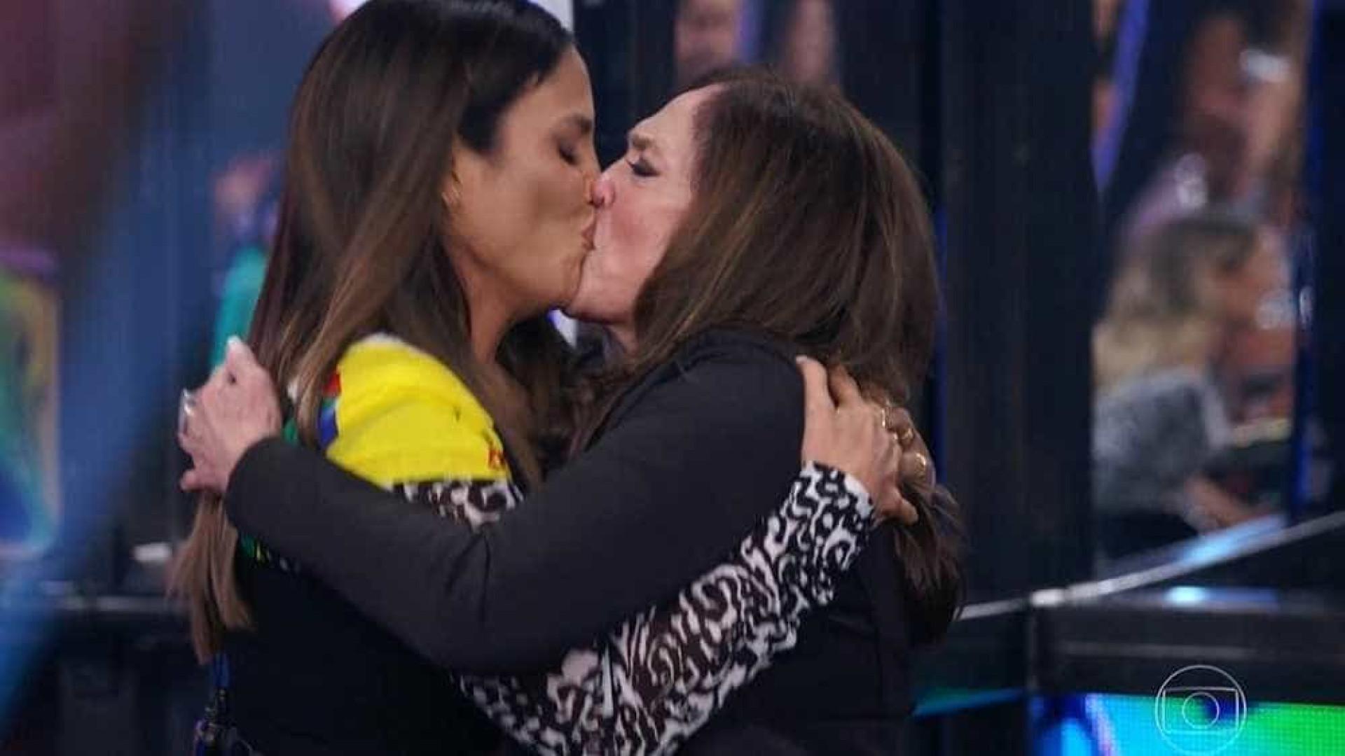Susana Vieira beija Rodrigo Lombardi, Ivete Sangalo e Faustão na TV
