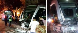 VLT fica destruído após colisão com ônibus  no Rio de Janeiro